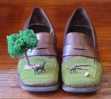 buty z drzewkiem