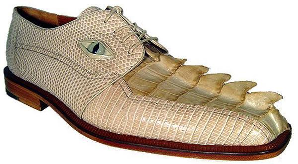 buty imitujące krokodylą głowę